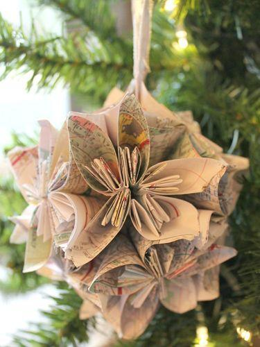 "<p>Recycle your old paper maps by turning them into ornaments! Simply follow this blogger's surprisingly easy folding technique, then loop with a ribbon to finish.</p><p><strong>Get the tutorial at <a href=""http://chiccalifornia.com/2014/11/20/trim-tree-blog-hop/"" rel=""nofollow noopener"" target=""_blank"" data-ylk=""slk:Chic California"" class=""link rapid-noclick-resp"">Chic California</a>.</strong></p>"