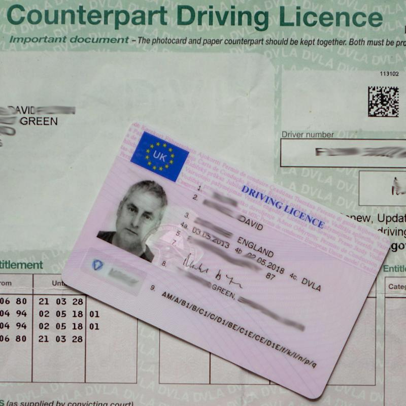 The EU flag is disappearing from the UK driving licence - Credit: Alamy