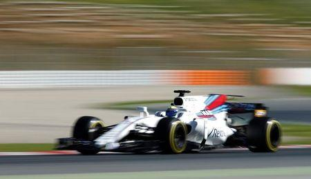Formula One - F1 - Test session - Barcelona-Catalunya racetrack in Montmelo, Spain - 7/3/17 - Williams' Felipe Massa in action. REUTERS/Albert Gea
