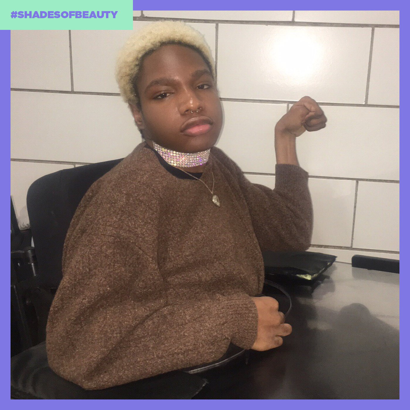 Beauty comes in all shapes, colors, sizes, and abilities. Just ask rising model Aaron Phillip. (Photo: Courtesy of Aaron Phillip, Art by Quinn Lemmers for Yahoo Lifestyle)