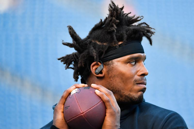 Cam Newton opened up a bit on his joining the New England Patriots and what his motivations will be for the 2020 NFL season. (Photo by Kathryn Riley/Getty Images)