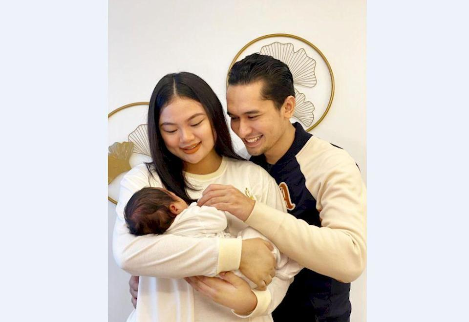 Local actor, Nazrief Nazri and wife, Aziatul Aqma Hamdan, in shock and saddened after their two months old baby tested positive for Covid-19. — Photo courtesy of Instagram/ Nazrief Nazri