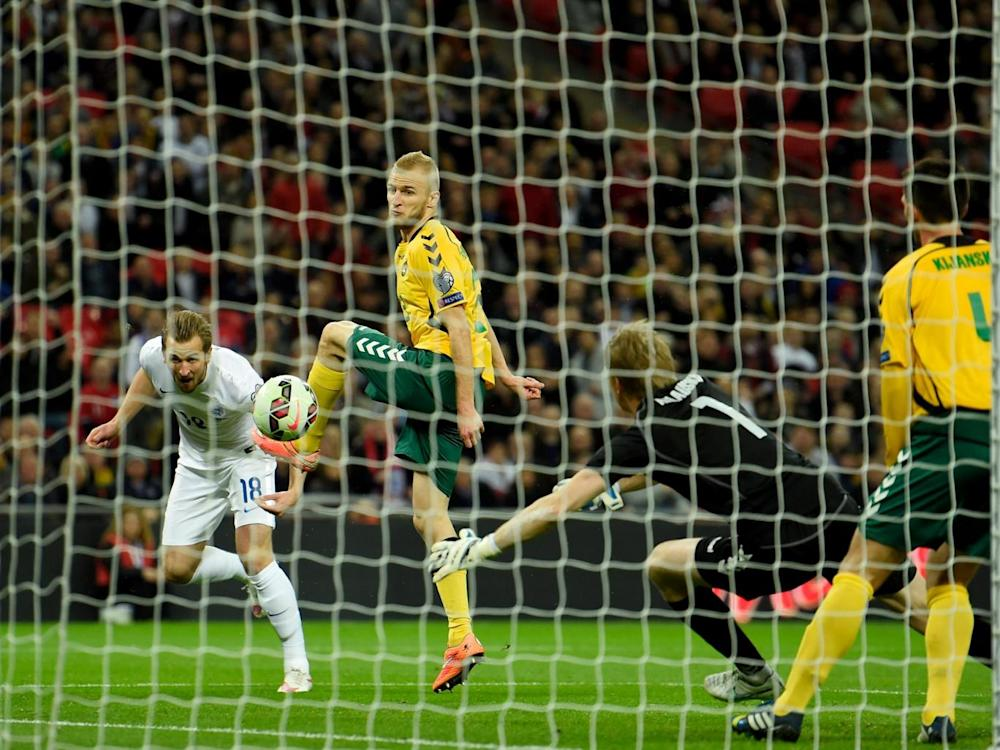Harry Kane scored on his debut the last time England played Lithuania (Getty)