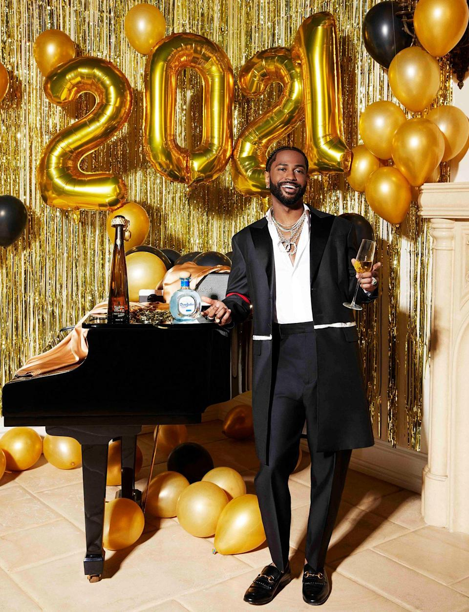 <p>Big Sean gets ready for midnight with Tequila Don Julio at home in L.A. </p>