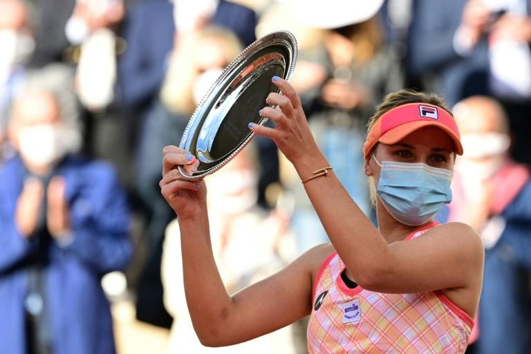A masked-up Sofia Kenin was runner-up at the French Open in Paris in October