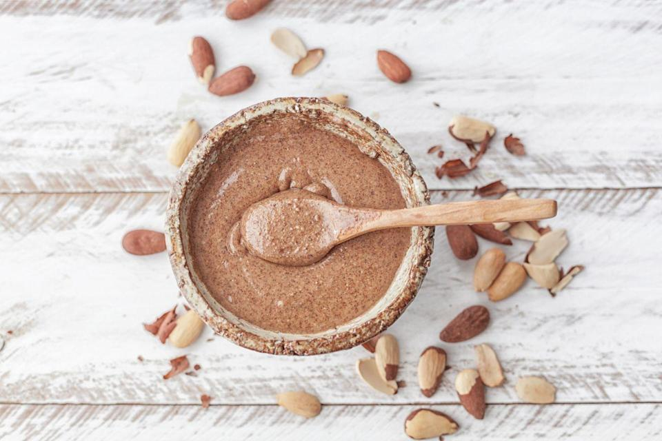 """<p>Peanut butter isn't the only """"butter"""" out there you shouldn't avoid. Nut butters like almond and cashew are also really good for you. """"These can get a bad reputation for being found in candy and high in fat, but they are completely fine and contain tons of healthy fats that keep us full,"""" Wandzilak says. """"Make sure to mind the serving size, and read the nutrition label. Make sure your nut butter has three or less ingredients–none of which should be sugar!"""" </p>"""