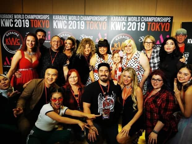 Team Canada and friends in Tokyo for the 2018 KWC: Christine Costa, Jodway, Katey Day-Reick, Kate Dion, Candace Miles, Susan Cook, Marc Peters, Dr. Sharon Quinn (national director), and Erin Meyer.