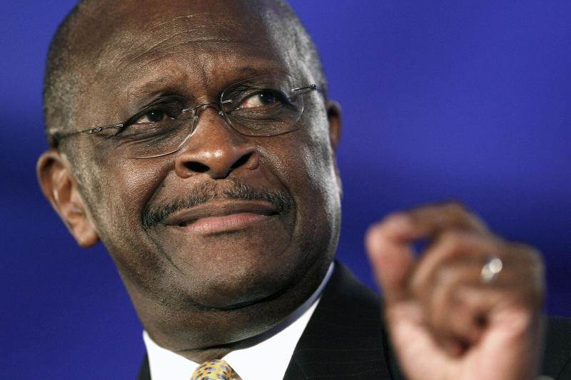 "FILE - In this Friday, June 17, 2011  file photo, Republican presidential candidate Herman Cain speaks at the Republican Leadership Conference in New Orleans. Appearing on ""Fox News Sunday"" on Sunday, July 17, 2011, Cain said that communities have a right to ban Islamic mosques. Cain said his view doesn't amount to religious discrimination because he says Muslims are trying to inject Shariah law into the U.S. (AP Photo/Patrick Semansky, File)"