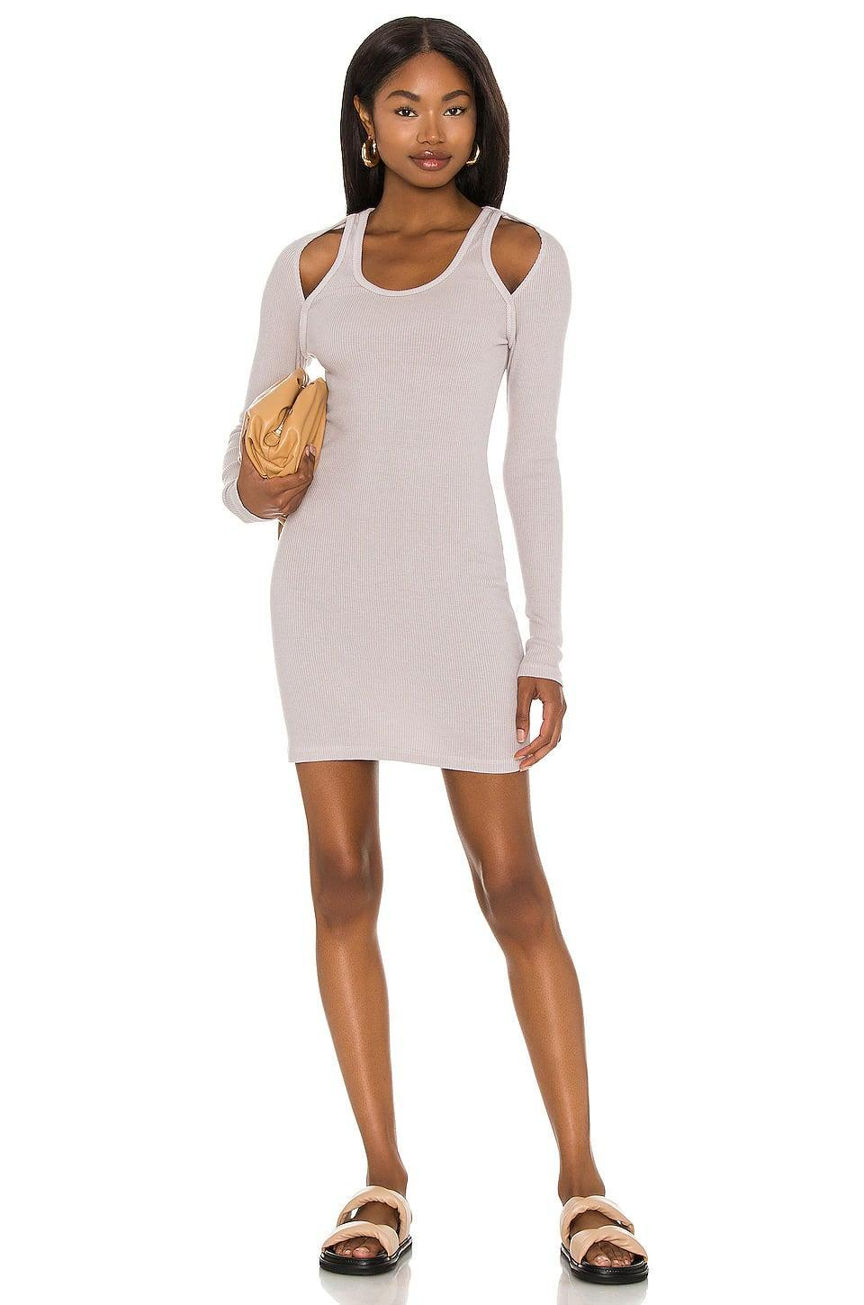 <p>I am here for a T-shirt dress, and I'm loving the little details on this <span>Monrow Cut Out Shoulder Dress</span> ($153).</p>