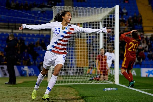 """<p><strong>POPSUGAR: I know you can't go into details on the current lawsuit, but it was cool that it was filed on International Women's Day. Did that have a special resonance for you?</strong><br> <strong>Christen Press (pictured above):</strong> Definitely. I think that we are all very proud on this team of our fight for women - largely women in sport but women all over. And so there was a little bit of synchro-destiny there with the lawsuit timing. This is part of our legacy in our life. But at the same time, we don't want to be in this situation. We want to actually just be resourced and have the opportunity to be excellent athletes. In that way, it's not fun. In a moment like this, you're kind of like, """"Wow, we've been working for so hard, for so long."""" And it's just this realization with LUNA Bar [that] other people are working and fighting. We're all coming together, and it actually takes something that's really not cool, which is gender inequality, and makes it a really cool and special moment where people are coming together, female and male. It's so much bigger than sport, and it's so much bigger than just our team.</p> <p><strong>PS: Equal pay is something that women across all industries and all fields have to deal with. What is something you've learned that they can take to the table when it comes to advocating for themselves and each other?</strong><br> <strong>Alex Morgan:</strong> We're trying to rally for women to stand up for themselves in this fight. And I think the most important thing is continuing to raise awareness for the gender inequalities among all industries and helping women know that they have support in us. I'm so happy to have a group of 25 women to fight alongside and to feel completely 100 percent united.<br> <strong>Megan Rapinoe:</strong> Obviously, not all women in their profession have a full team of 20. Usually, it's just one or two. Especially the higher you move up, likely, it's just going to be one. My advice would be to see"""