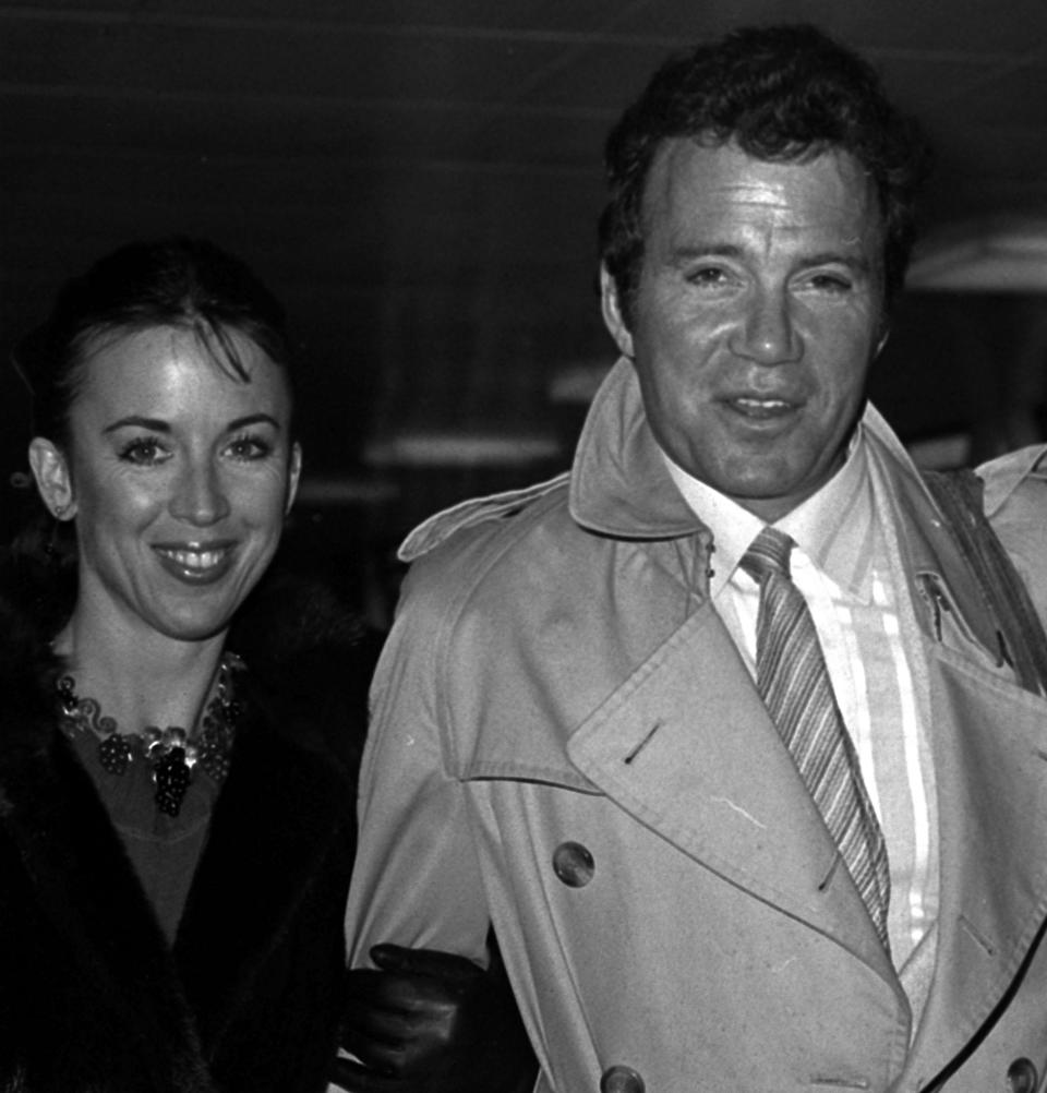 Captain James T. Kirk, otherwise known as American actor William Shatner, at Heathrow Airport with his wife Marcie. Shatner beamed in from Paris for the British premiere of the full-length feature film version of 'Star Trek'.
