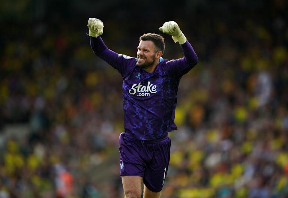 Ben Foster celebrates during Watford's win at Norwich last weekend (Joe Giddens/PA) (PA Wire)