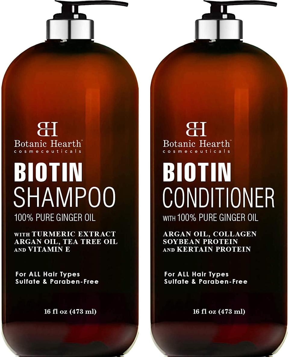 <p><span>BOTANIC HEARTH Biotin Shampoo and Conditioner Set</span> ($23, originally $27)</p>