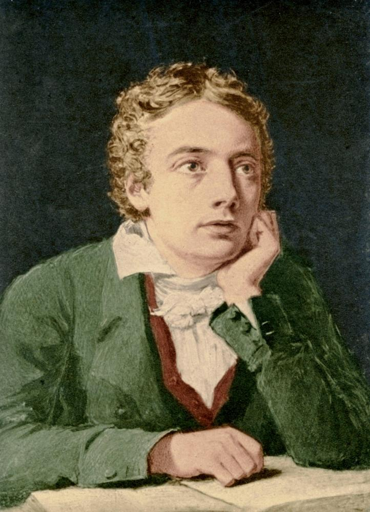 A portrait of John Keats by J. Severn