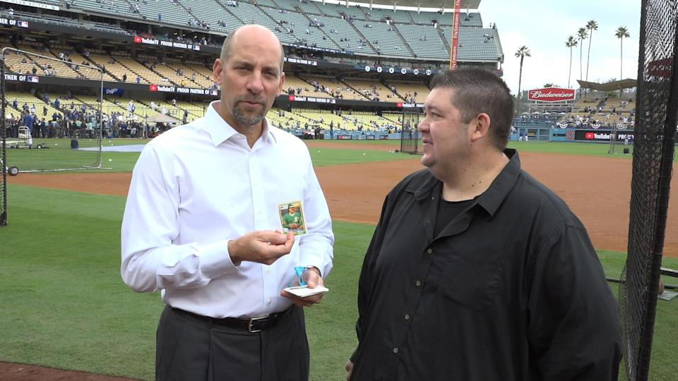 John Smoltz of Fox finds Dennis Eckersley on a new episode of 25-Year-Old Baseball Cards. (Yahoo Sports)