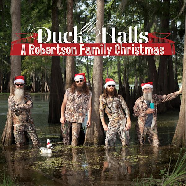 "This CD cover image released by Capitol Nashville shows ""Duck the Halls: A Robertson Family Christmas."" (AP Photo/Capitol Nashville)"