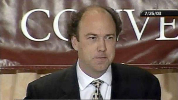 PHOTO: Paul Erickson speaks at the College Republican National Convention on July 25, 2003. (C-SPAN)