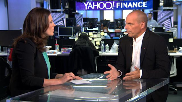 """Former Greek Finance Minister Yanis Varoufakis sits down with Yahoo Finance's Nicole Sinclair to talk about the broader implications of the Greek debt crisis and his book """"Adults in the Room"""""""