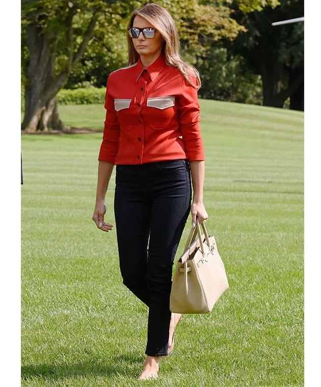 It's Birkin or bust for the first lady. Photo: Getty
