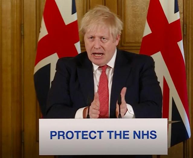 Boris Johnson set out draconian new measures on Friday amid the coronavirus crisis. (PA Video/PA Images via Getty Images)