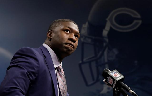 Roquan Smith has already missed a week of Bears training camp. (AP Photo)