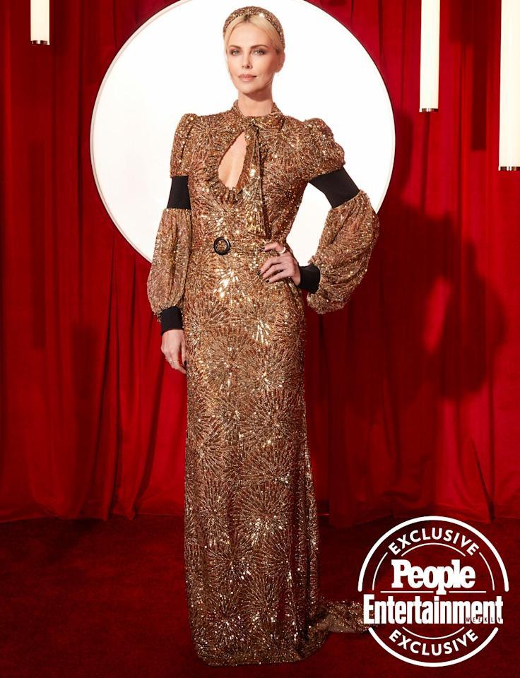 """<em>Bombshell</em> actress <a href=""""https://ew.com/tag/charlize-theron/"""">Charlize Theron</a> was a vision when she stepped out for the <a href=""""https://ew.com/awards/2020/01/29/2020-cdga-winners-list/"""">22nd annual Costume Designers Guild Awards</a>(sponsored by Campari), which were handed out on Tuesday night at the Beverly Hilton. Click through to see more exclusive photos of the stars and some of Hollywood's most talented costume designers."""