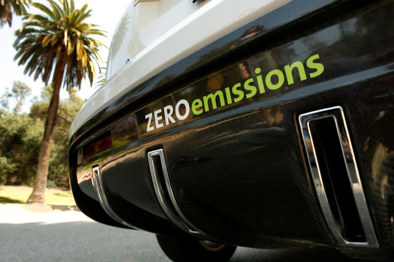 FILE PHOTO: A Chevrolet Equinox Fuel Cell test vehicle is seen in Los Angeles