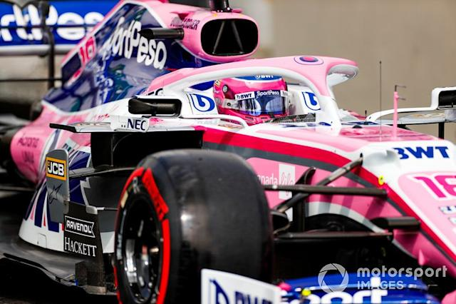 """Lance Stroll, Racing Point RP19 <span class=""""copyright"""">Zak Mauger / Motorsport Images</span>"""