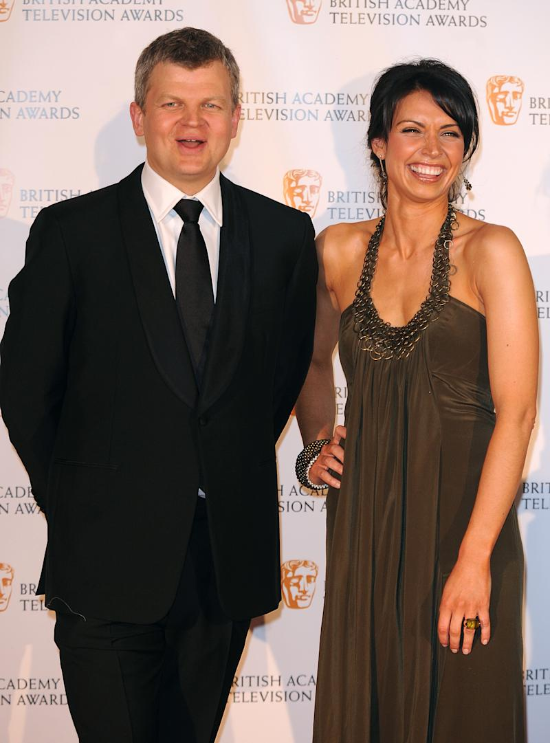 Adrian Chiles and Christine Bleakley at the British Academy Television Awards at the Royal Festival Hall in central London. (Photo by Ian West - PA Images/PA Images via Getty Images)