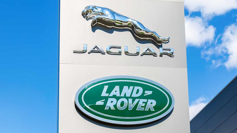 Jaguar Land Rover dealership sign logo