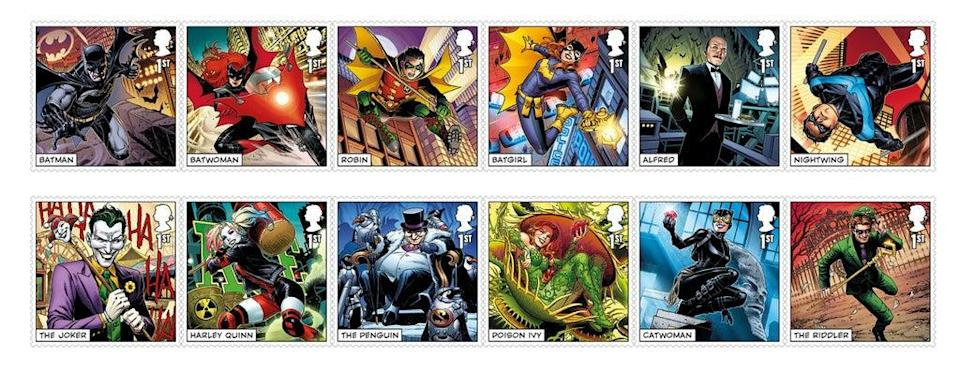 Twelve of the stamps on offer (Royal Mail/PA) (PA Media)