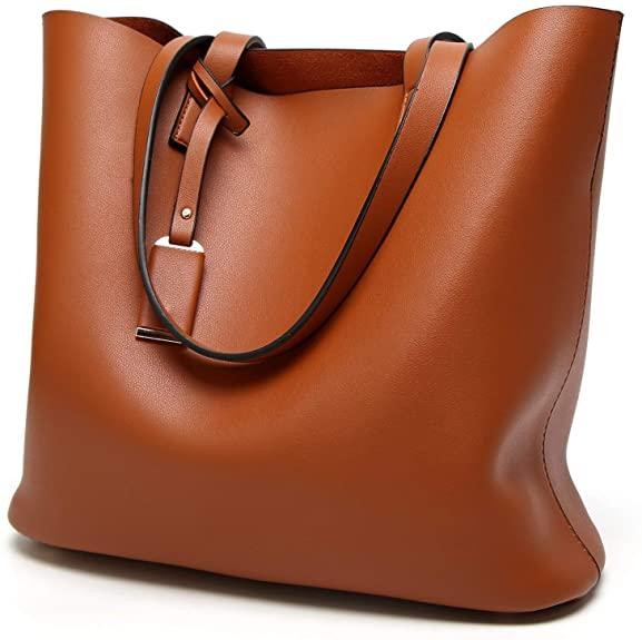 TcIFE Women's Tote Bag in Brown. Image via Amazon.
