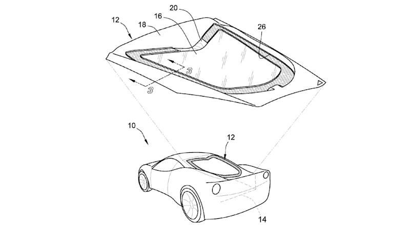 Mid-Engined Corvette Glass Patent