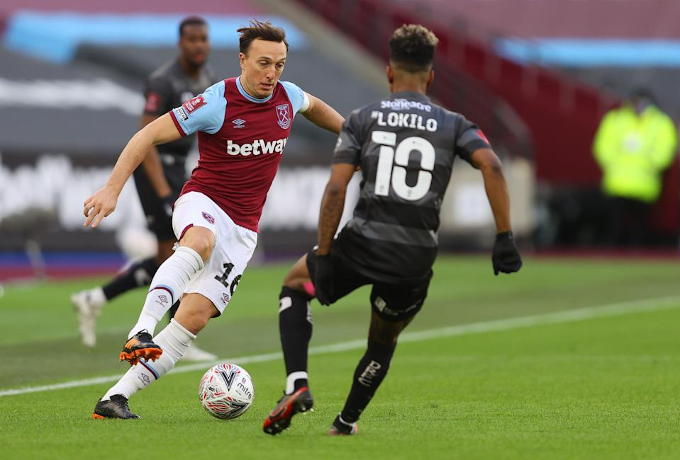 Mark Noble led the Hammers by example on SaturdayGetty Images