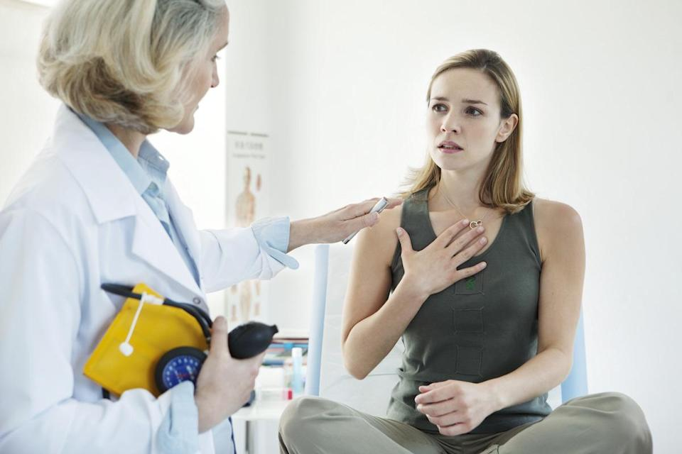 """<span>Your armpits aren't the only subtle place you might experience lymph node swelling due to breast cancer. According to the </span><span>Mayo Clinic</span><span>, the same issue can also occur above or below your collarbones—a location most people don't even realize they have a set of lymph nodes in the first place. And for more red flags that aren't always so obvious, check out <a href=""""https://www.msn.com/en-xl/northamerica/northamerica-photos/40-subtle-signs-your-body-is-telling-you-somethings-seriously-wrong/ss-BB156r6o?li=BBJDXDP"""" rel=""""nofollow noopener"""" target=""""_blank"""" data-ylk=""""slk:40 Subtle Signs Your Body Is Telling You Something's Seriously Wrong"""" class=""""link rapid-noclick-resp"""">40 Subtle Signs Your Body Is Telling You Something's Seriously Wrong</a>. </span>"""