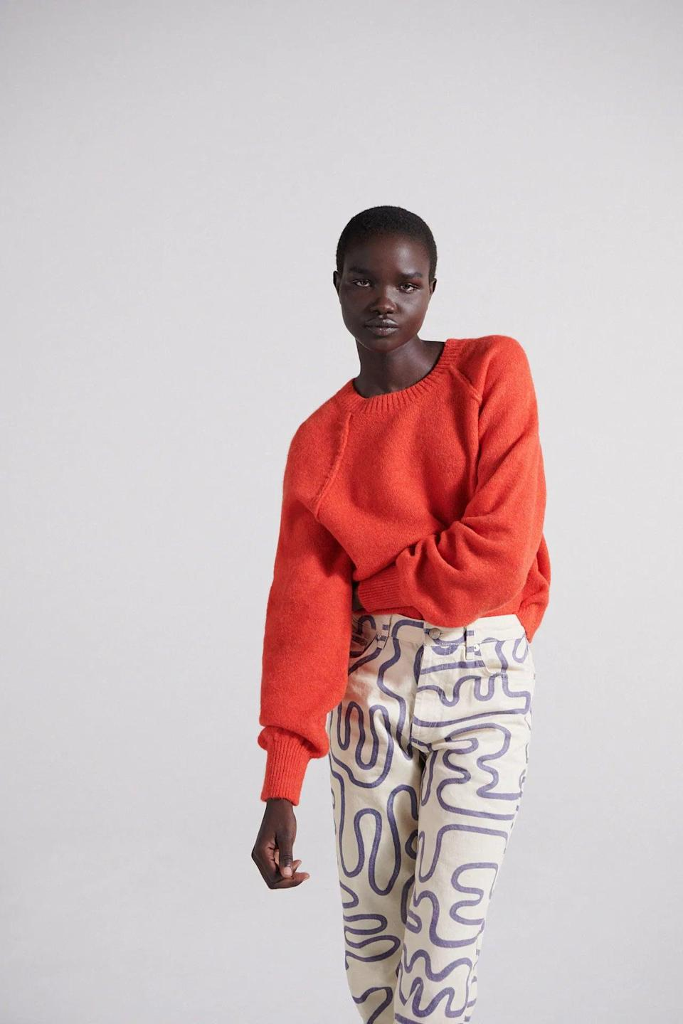 <p>This <span>Zara Seam Detail Knit Sweater</span> ($46) is vibrant, so you cannot not get noticed while wearing. We love the seams at the shoulder, and we're planning to wear it with some funky pants for an even cooler look.</p>