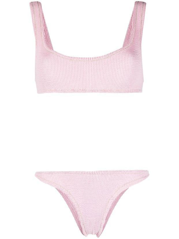 """<p>Reina Olga Ginny Textured Bikini Set, $170, <a href=""""https://rstyle.me/+MFibISfFAX8Rf0xWr0VzUA"""" rel=""""nofollow noopener"""" target=""""_blank"""" data-ylk=""""slk:available here"""" class=""""link rapid-noclick-resp"""">available here</a> (one size). </p>"""