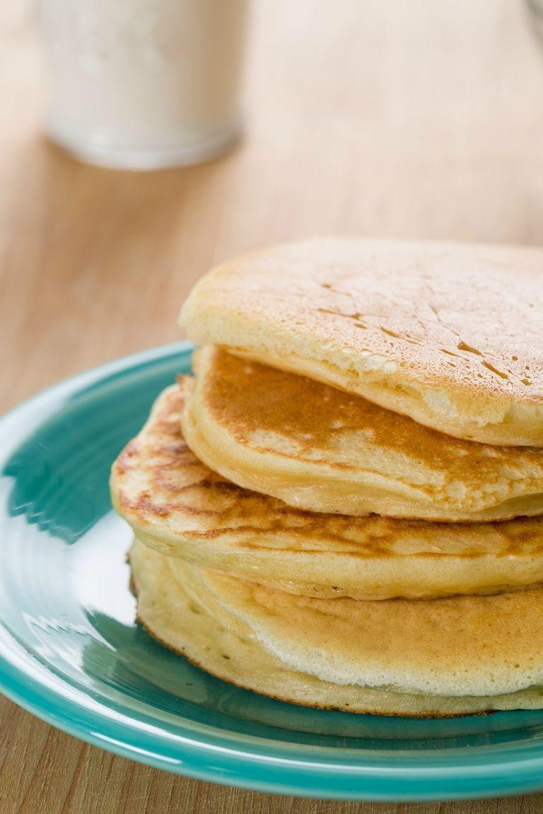 "<p>No baking powder? You could use bicarbonate of soda instead; it will react to the acid in the Greek yoghurt, leaving the pancakes just as light and fluffy. Only use 2 teaspoons though—it's more powerful than baking powder!</p><p>Get the <a href=""https://www.delish.com/uk/cooking/recipes/a29853820/greek-yogurt-pancakes-recipe/"" rel=""nofollow noopener"" target=""_blank"" data-ylk=""slk:Greek Yogurt Pancakes"" class=""link rapid-noclick-resp"">Greek Yogurt Pancakes</a> recipe.</p>"
