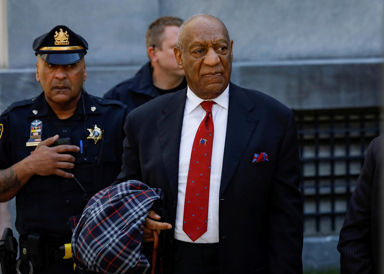 <p>Actor and comedian Bill Cosby exits the Montgomery County Courthouse after a jury convicted him in a sexual assault retrial in Norristown, Pa., April 26, 2018. (Photo: Brendan McDermid/Reuters) </p>