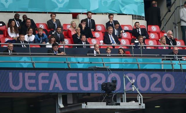 Ed Sheeran was at Wembley for England's win over Germany