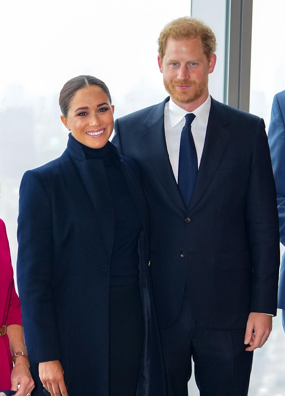 Prince Harry and Meghan Markle at One World Trade Center Observatory in New York,