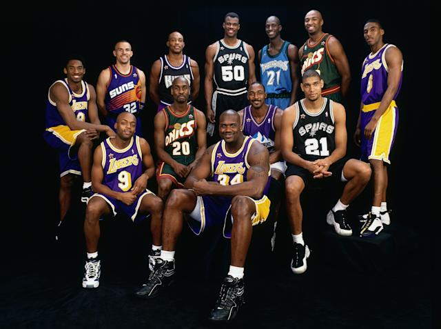 The Lakers put four All-Stars on the West roster in 1998. (Getty Images)