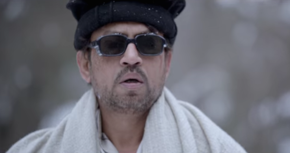 """Irrfan has a small role in Haider. But who better than him to unroll the layered delights of this Shakespearean tragedy? As Roohdaar, Irrfan brings to life Hamlet's Ghost and delivers a high-impact performance. In it, he shares some prison profundity that also reflects on the relatability of his art and what we'll remember him for: """"Darya bhi main, darakht bhi main. Jhelum bhi main, chinar bhi main. Dair bhi hoon, haram bhi hoon. Shia bhi hoon, Sunni bhi hoon, main hoon pandit. Main tha, main hoon, aur main hi rahoonga."""""""
