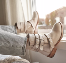 """<p><strong>FP Collection</strong></p><p>freepeople.com</p><p><strong>$198.00</strong></p><p><a href=""""https://go.redirectingat.com?id=74968X1596630&url=https%3A%2F%2Fwww.freepeople.com%2Fshop%2Fsunbelt-santa-fe-moto-boots%2F&sref=https%3A%2F%2Fwww.goodhousekeeping.com%2Fclothing%2Fg36292464%2Fbest-summer-boots%2F"""" rel=""""nofollow noopener"""" target=""""_blank"""" data-ylk=""""slk:Shop Now"""" class=""""link rapid-noclick-resp"""">Shop Now</a></p><p>These neutral moto-inspired leather boots from Free People will transition easily from summer to fall. With trendy ankle straps, there's a back zipper for easy on/off. Reviewers said they were comfy for all day wear thanks to the <strong>short heel and round toe box. </strong></p>"""