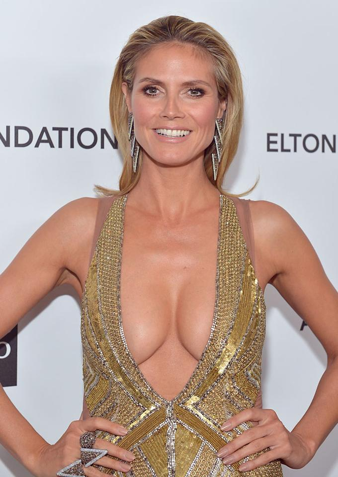 Heidi Klum attends Neuro at 21st Annual Elton John AIDS Foundation Academy Awards Viewing Party at Pacific Design Center on February 24, 2013 in West Hollywood, California.