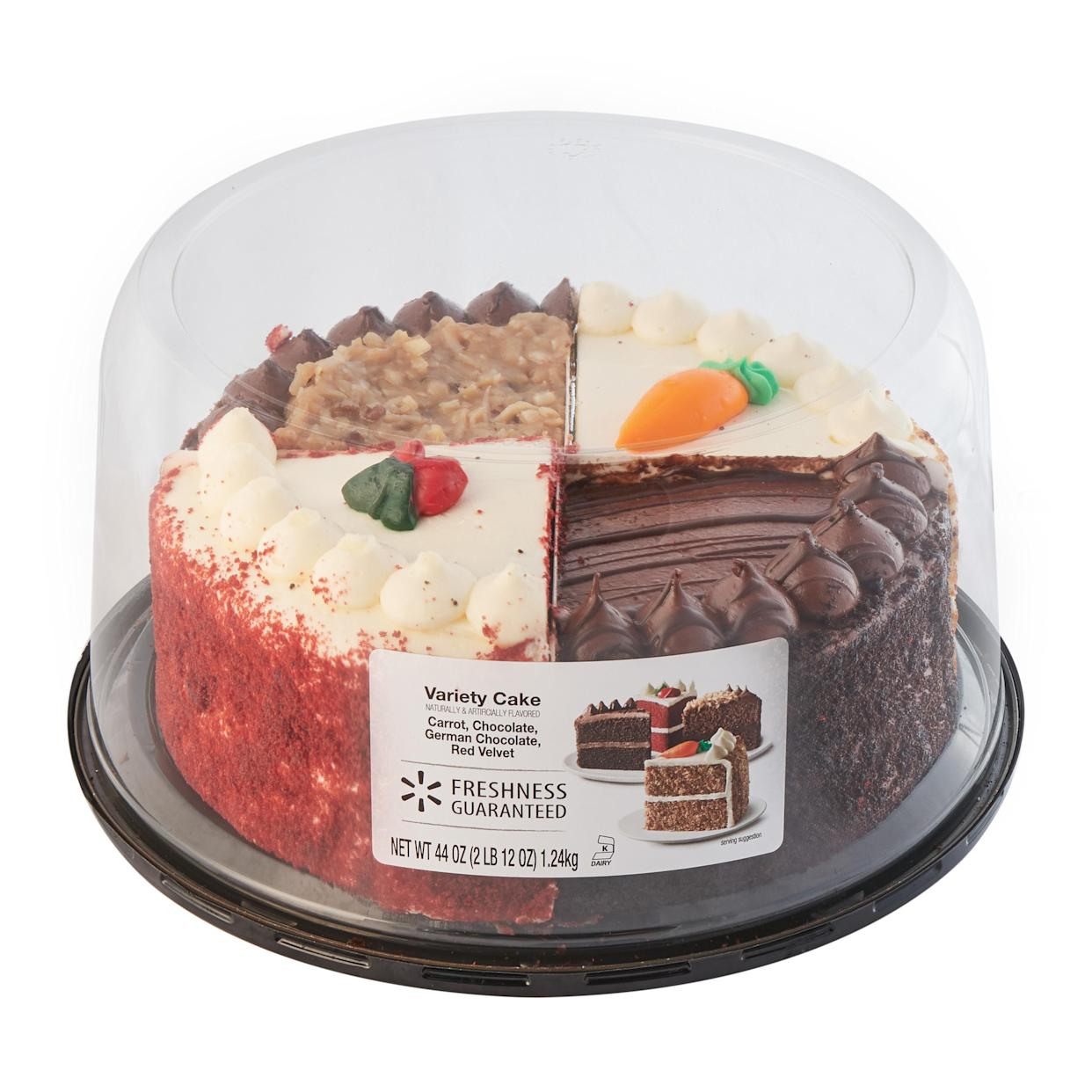 Four kinds of cake in one? You had me at hello. (Photo courtesy of Walmart)