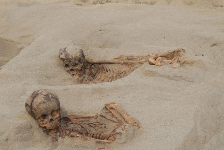 Skeletons of more than 100 children found sacrificed at ritual site in Peru