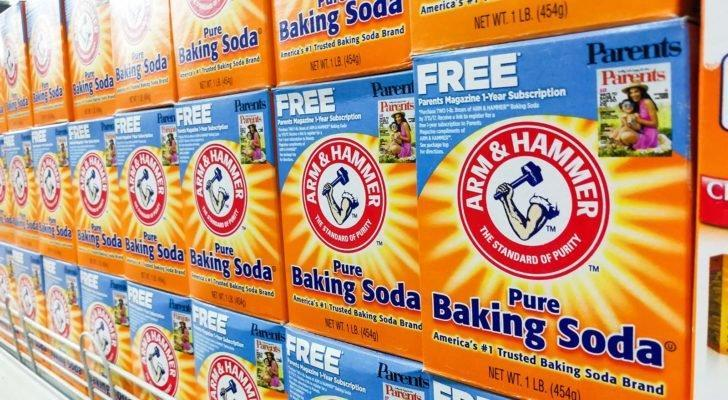 boxes of Arm & Hammer baking soda