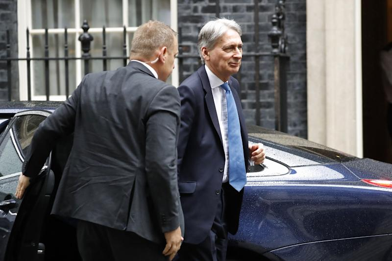 Philip Hammond arrives in 10 Downing Street (AFP/Getty Images)