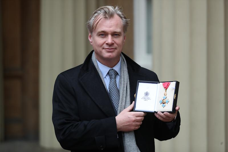 LONDON, ENGLAND - DECEMBER 19: Director Christopher Nolan after he was made a Commander of the British Empire (CBE) following an investiture ceremony at Buckingham Palace on December 19, 2019 in London, England. (Photo by Andrew Matthews - WPA Pool/Getty Images)